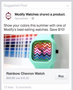 Кнопка купить в Facebook